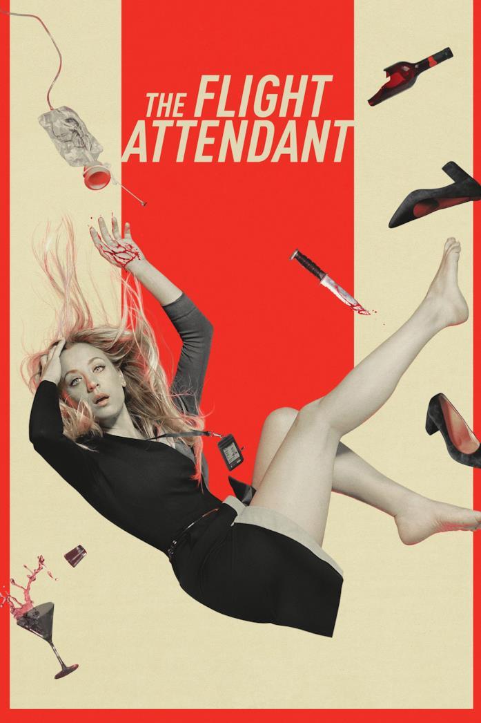 Kaley Cuoco nel poster di The Flight Attendant