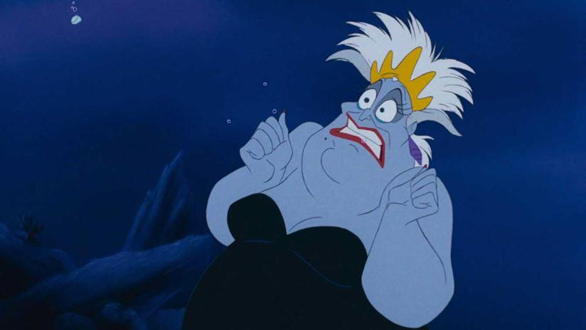 Ursula in una scena del film animato