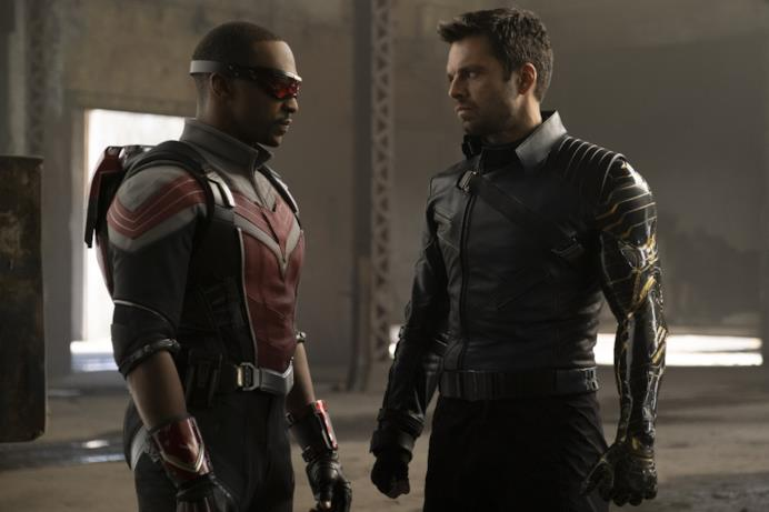 Anthony Mackie e Sebastian Stan sul set di The Falcon and the Winter Soldier