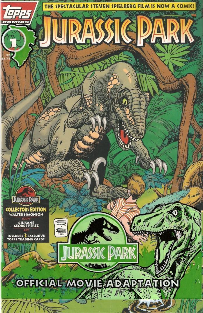 I fumetti Topps Comics di Jurassic Park