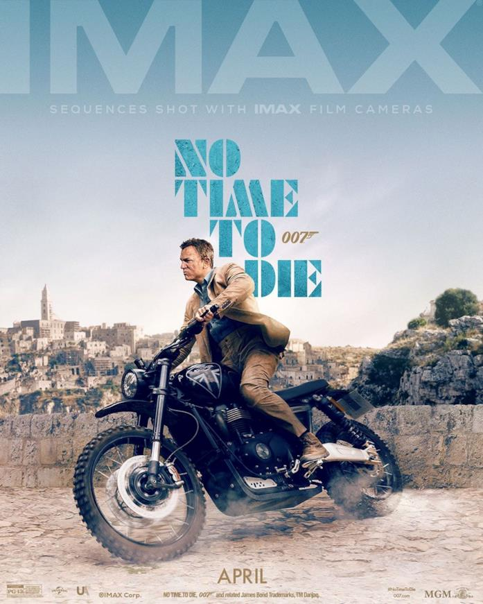 No Time To Die Poster con sfondo di Matera