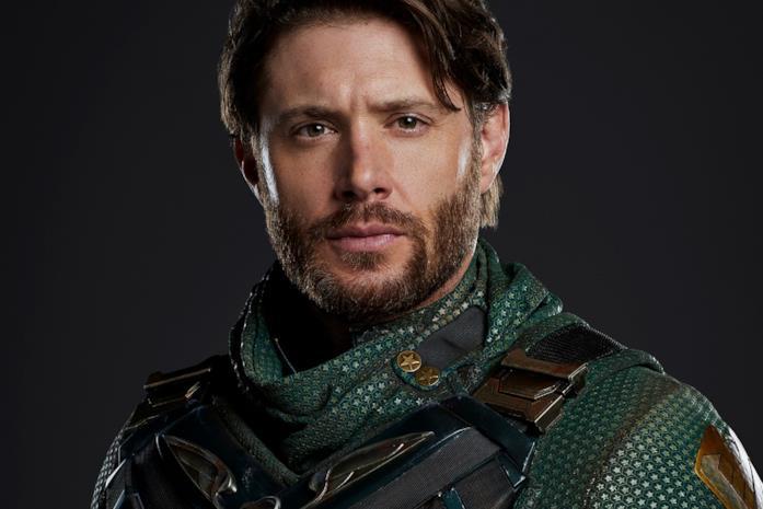 Jensen Ackles in costume da Soldier Boy