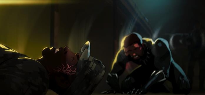 Black Panther e James Rhodes a terra