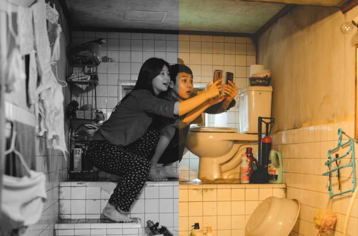 Un fotogramma del filma colori e in bianco e nero