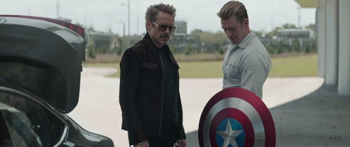 Lo scudo di Steve Rogers in Avengers - Endgame