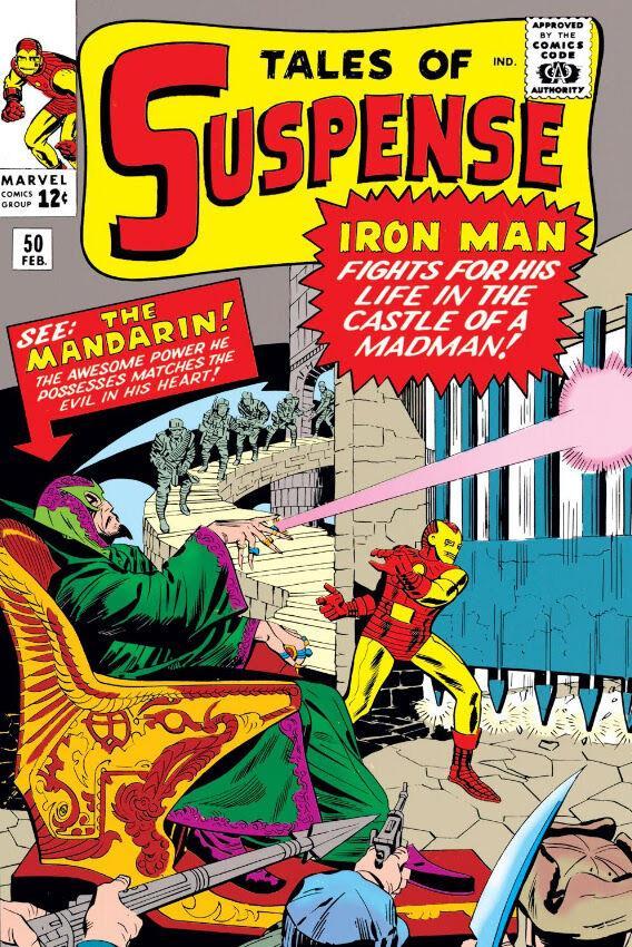 La cover del fumetto con Iron Man e il Mandarino