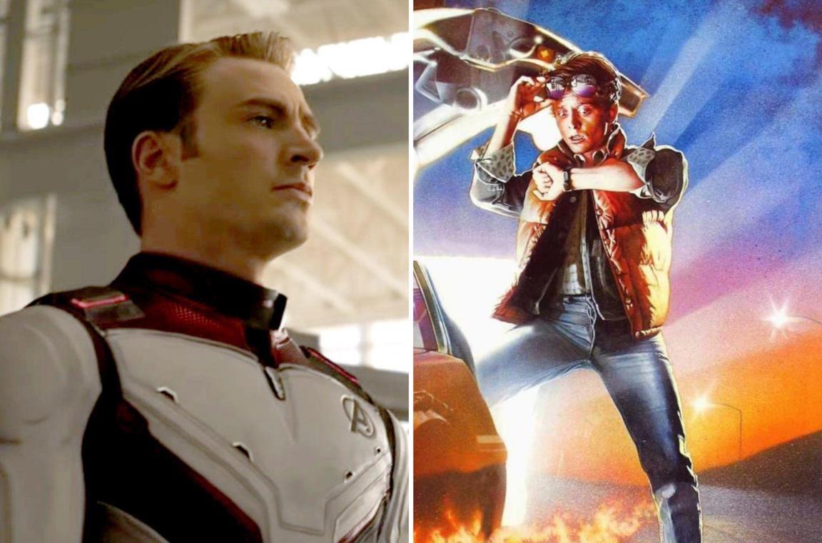 Captain America e Marty di Ritorno al Futuro