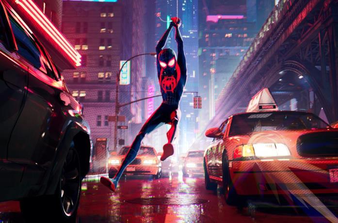 Miles Morales è Spider-Man in una scena di Spider-Man: Into the Spider-Verse