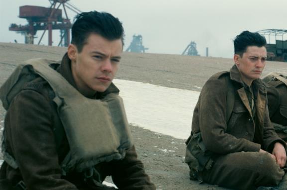 Harry Styles in una scena di Dunkirk