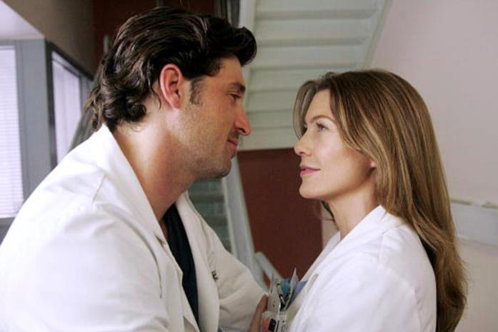 Una scena di Grey's Anatomy con Derek e Meredith insieme