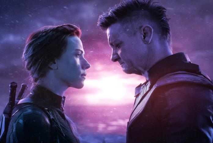 Occhio di Falco e Vedova Nera in Avengers: Endgame