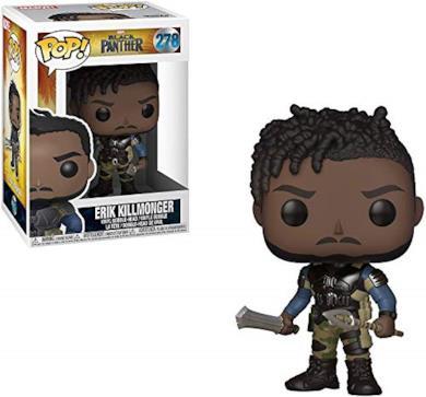 Funko 23350 - Marvel POP Vinile Black Panther Killmonger, 9 cm, Modelli assortiti, 1 pezzo