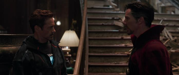 Iron Man e Doctor Strange in Avengers: Infinity War