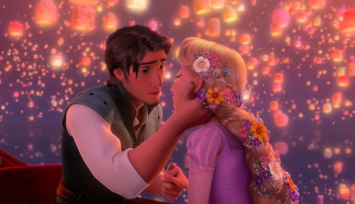 Eugene bacia Rapunzel