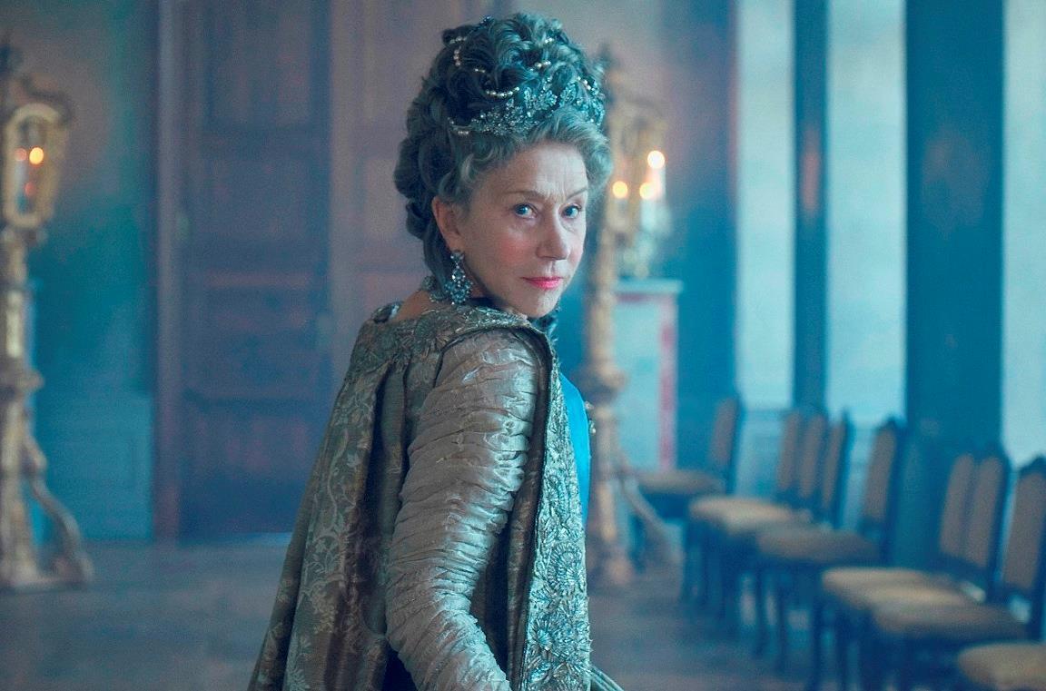 Helen Mirren nella serie TV Caterina la Grande