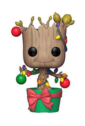 Funko- Marvel: Holiday Groot con Lights & Orn Pop, Multicolore, 33982