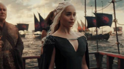 Daenerys Targaryen parte in nave