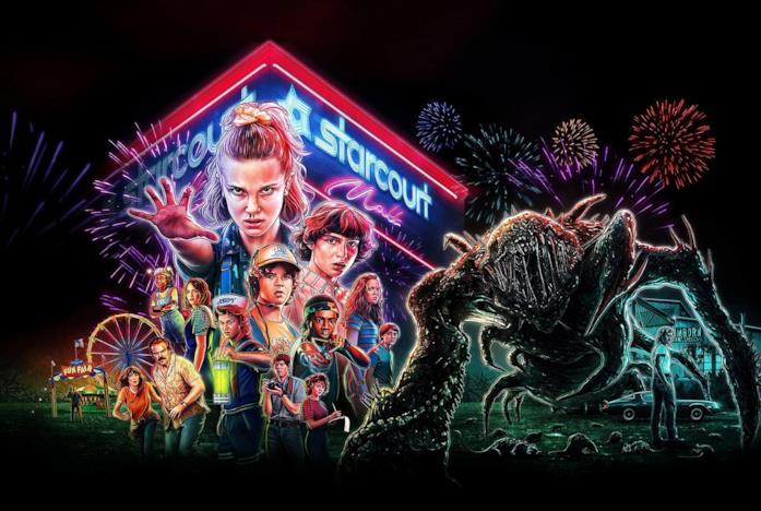 Il poster promozionale di Stranger Things 3