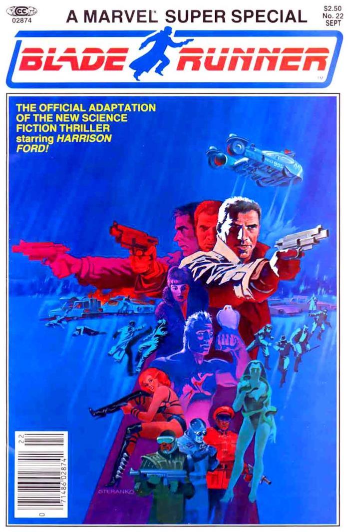 Copertina di Jim Steranko per il fumetto di Blade Runner