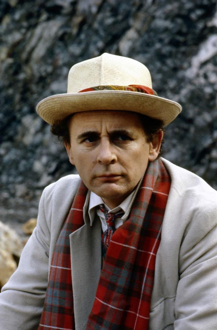 Sylvester McCoy nel ruolo del Dottore