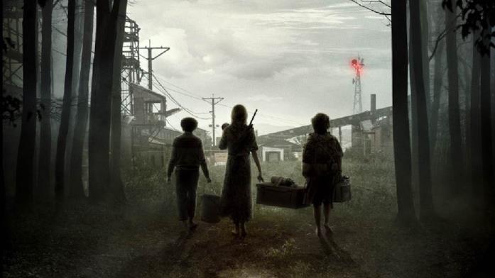 I protagonisti di A Quiet Place Part II di spalle nel poster ufficiale