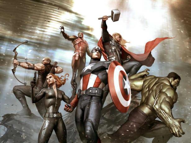 Spettacolare disegno che vede gli Avengers tutti insieme
