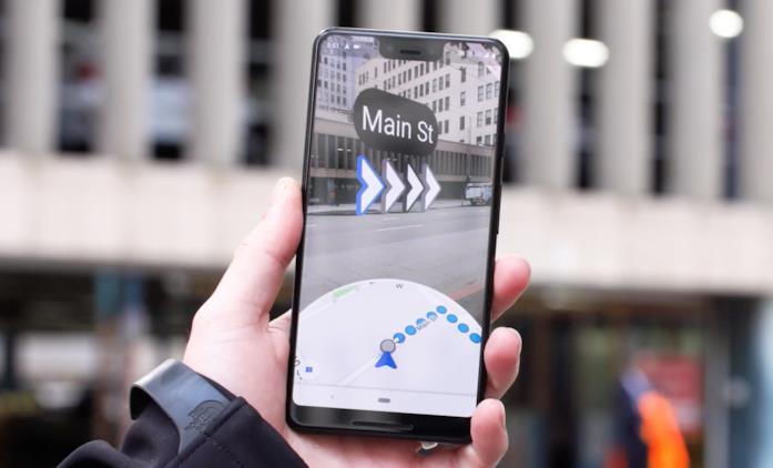 La navigazione in realtà aumentata su Google Maps