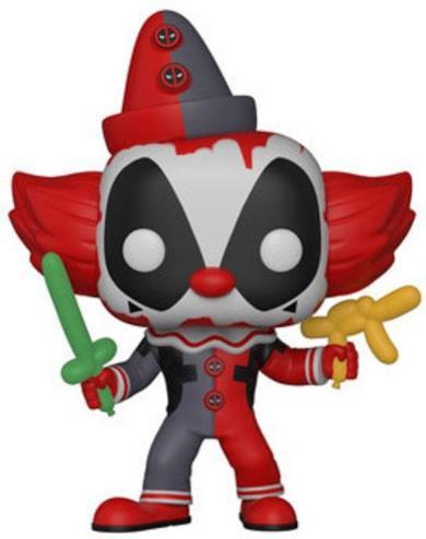 Funko Deadpool Clown-New York Toy Fair Figure Figurina, Multicolore, 9 cm, 31120