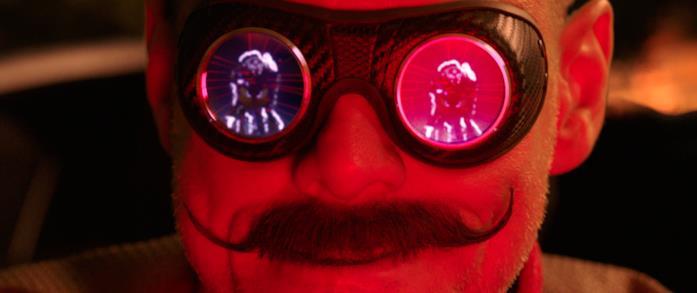 Gli occhiali di Robotnik con il riflesso di Sonic