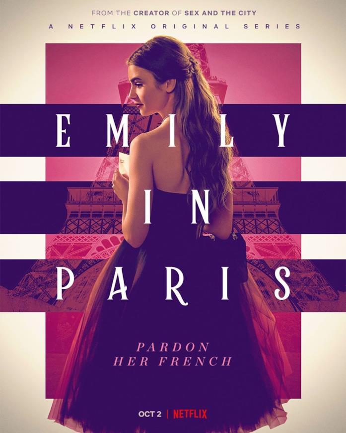 Lily Collins sulla locandina di Emily in Paris
