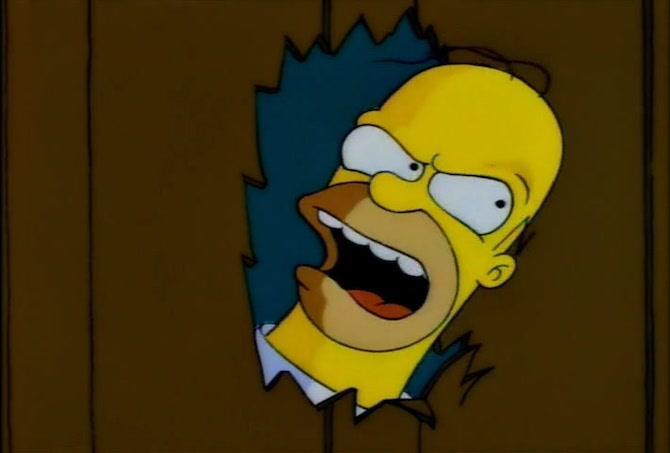La parodia di Shining de I Simpson