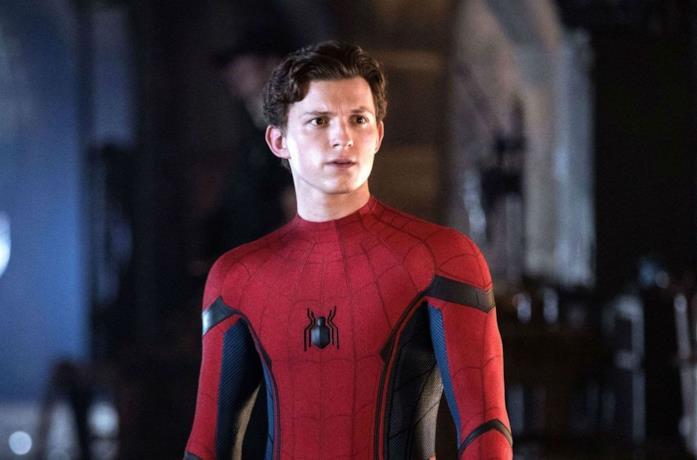 Tom Holland in una scena di Spider-Man: Far From Home