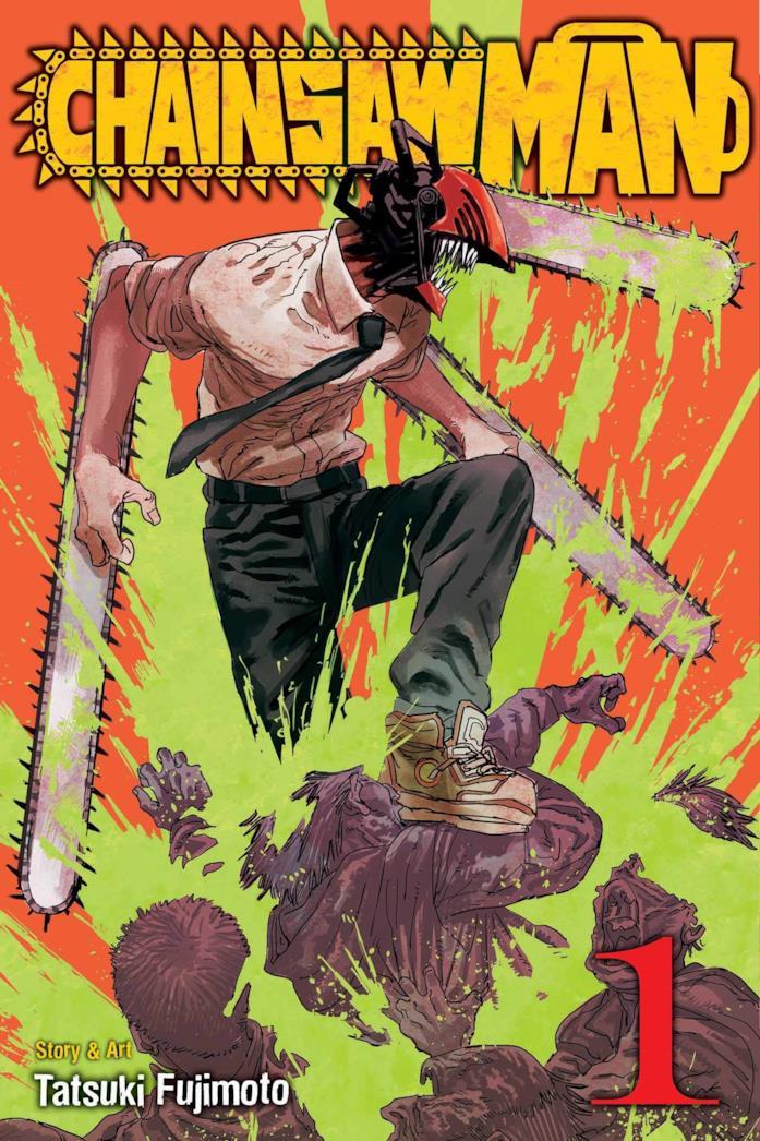 La copertina del primo volume di Chainsaw Man