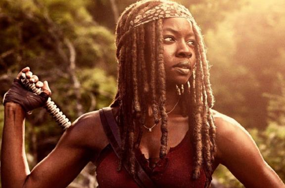L'attrice Danai Gurira è Michonne nella serie The Walking Dead