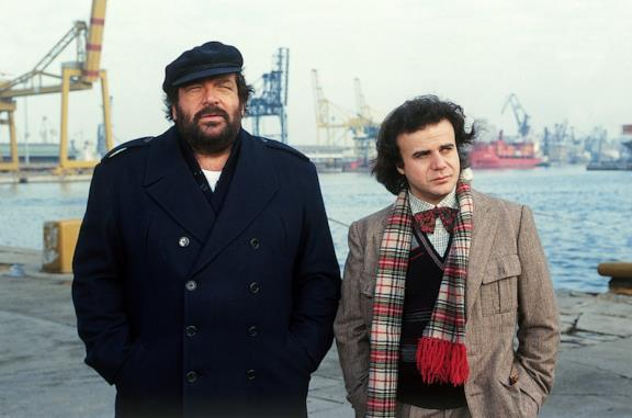 Bud Spencer e Jerry Calà nel film Bomber