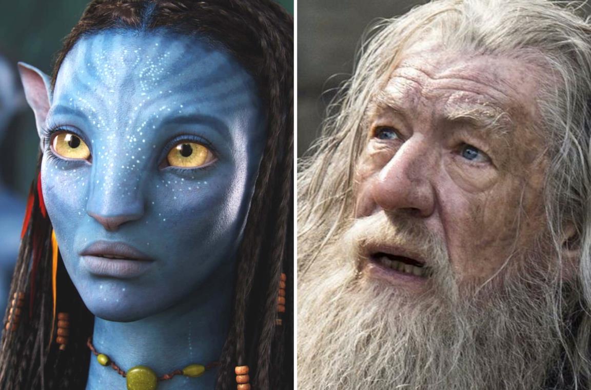 A sinistra Neytiri da Avatar e a destra Gandalf da Il Signore degli Anelli