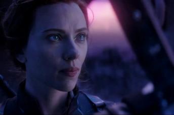 Scarlett Johansson nel ruolo di Black Widow