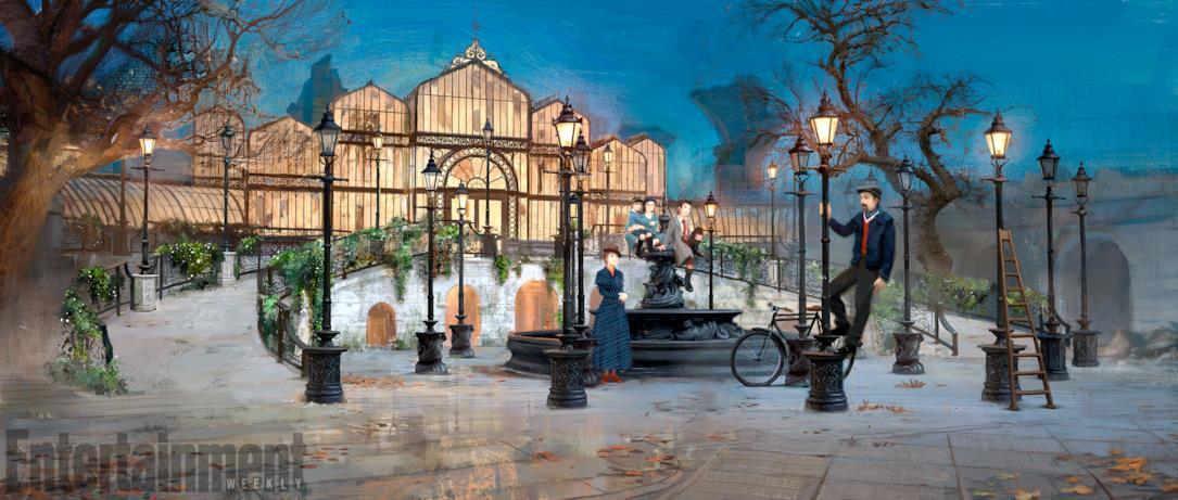 La scenografia praticabile del set di Mary Poppins
