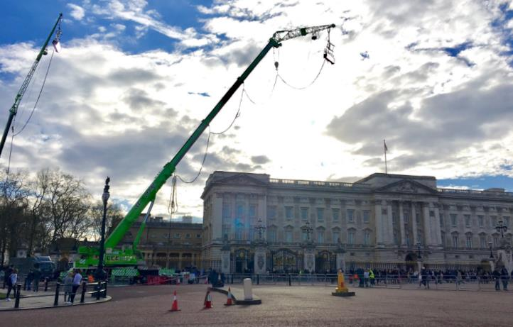Le riprese di Mary Poppins a Buckingham Palace