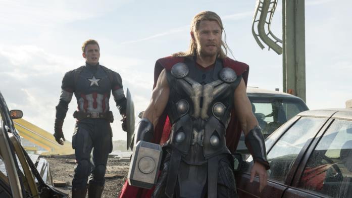 Capitan America e Thor in Avengers: Age of Ultron