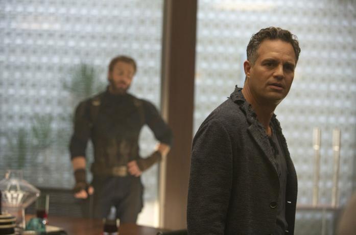 Mark Ruffalo in una scena del film Avengers Infinity War