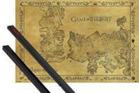 Poster Mappa di Westeros E Essos