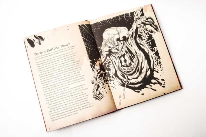 La descrizione di Slimer nella Tobin's Spirit Guide: Official Ghostbusters Edition
