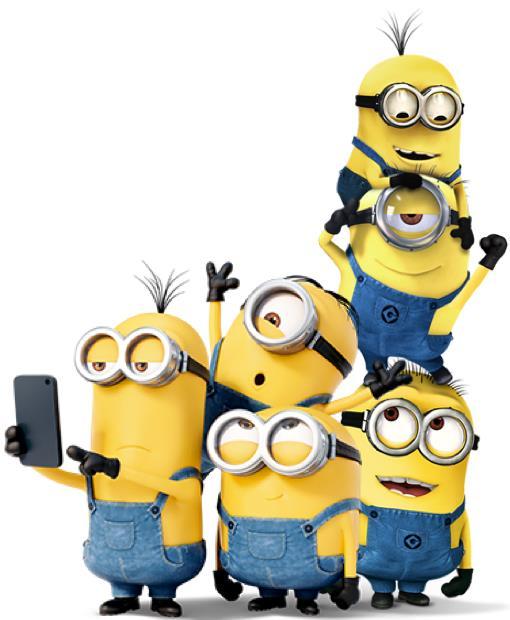 Una foto di gruppo dei Minions