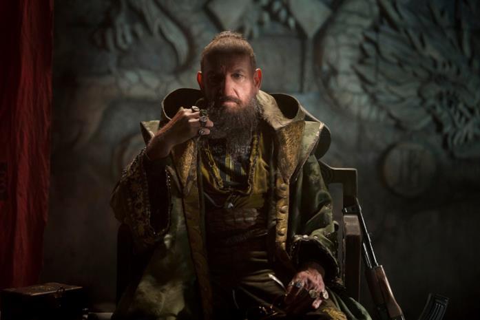Ben Kingsley nel ruolo del Mandarino in Iron Man 3