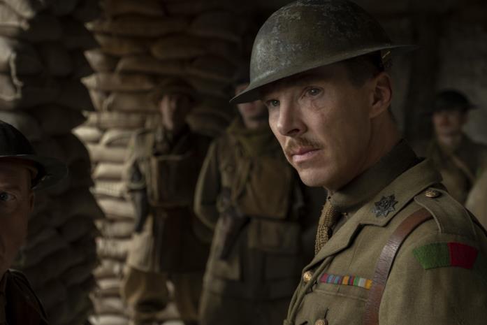 Benedict Cumberbatch in una scena del film 1917