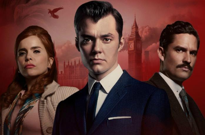 Un'immagine dei tre protagonisti della serie TV Pennyworth