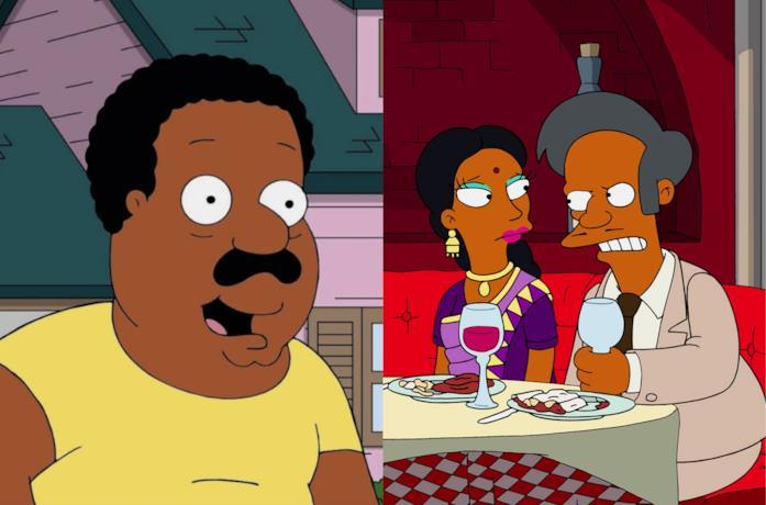 Alcuni personaggi POC di Simpson e Griffin doppiati da caucasici