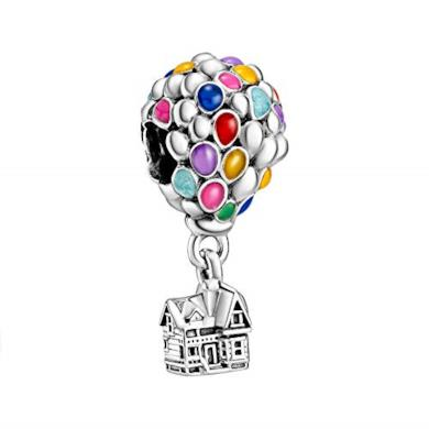 Pandora Disney Up 798962C01 - Charm argento/multicolore, 11 x 23,5 x 11 mm
