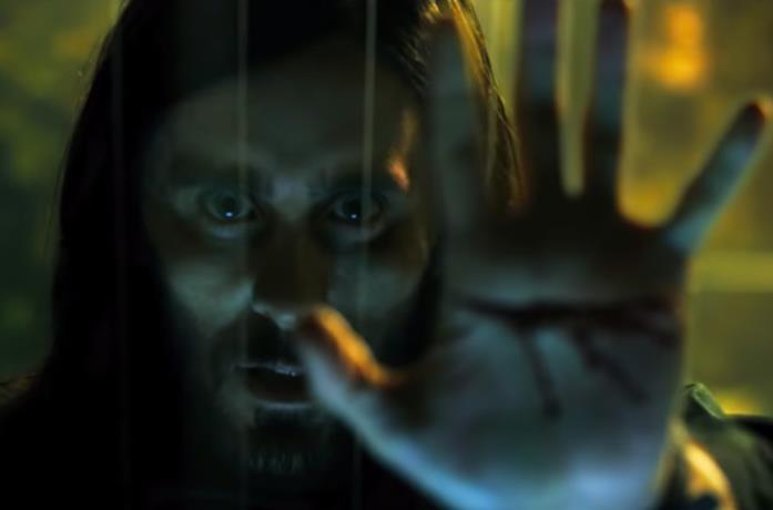 Una scena del trailer di Morbius